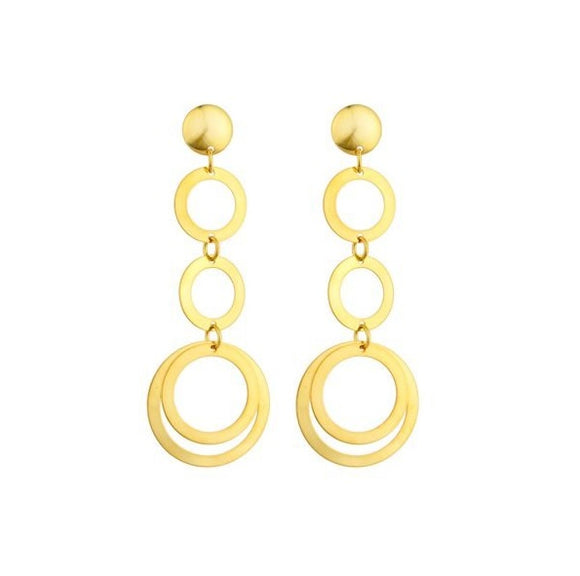 36100 18K Gold Layered Earring