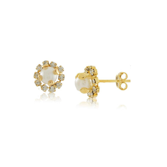 36148 18K Gold Layered Earring