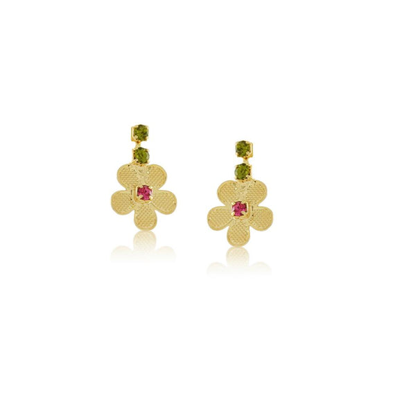 36175 18K Gold Layered Earring