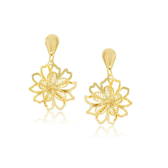 36189 18K Gold Layered Earring