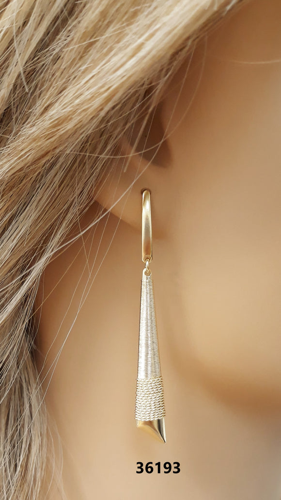 36193 18K Gold Layered Earring
