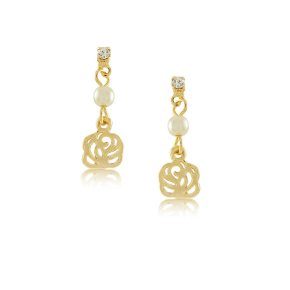 36300 18K Gold Layered Earring