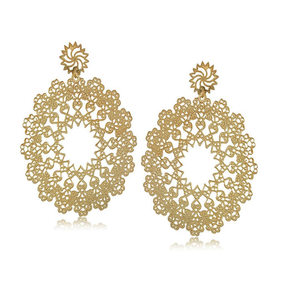 36315 18K Gold Layered Earring