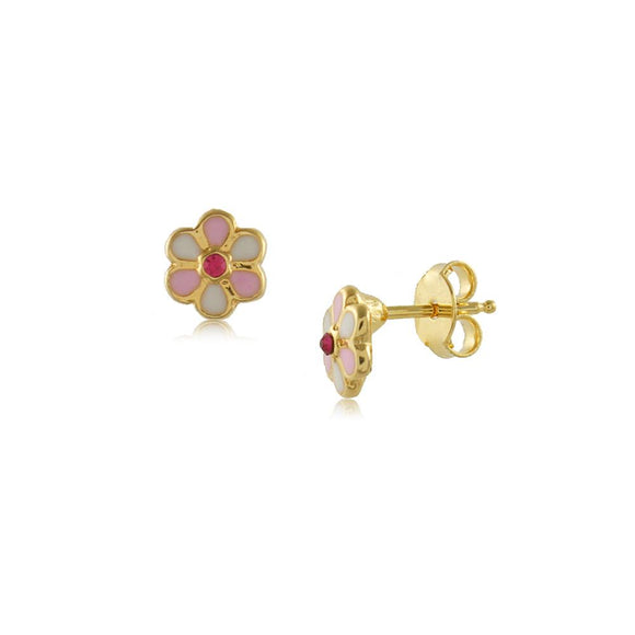 36343 18K Gold Layered Earring