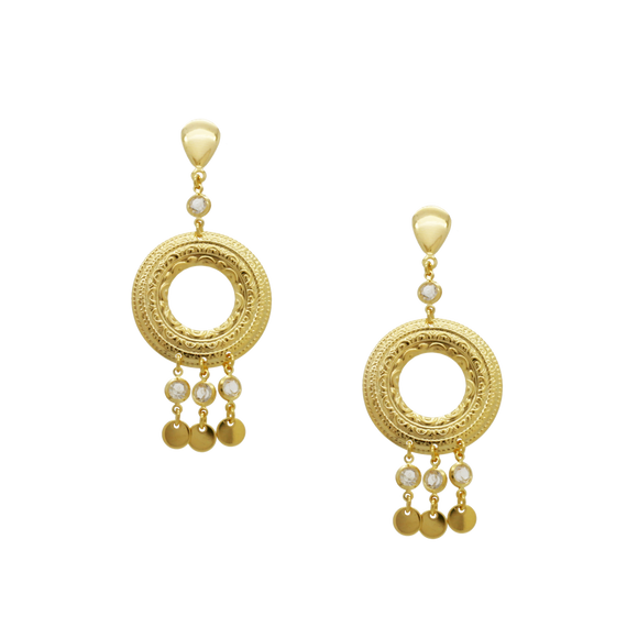 36398 18K Gold Layered Earring