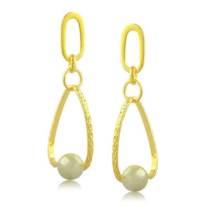 37358 18K Gold Layered Pear Earring