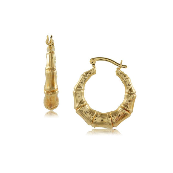 37498 18K Gold Layered Hoop Earring
