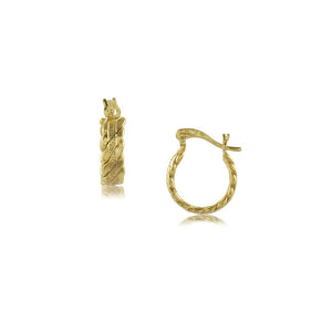 37501 18K Gold Layered Hoop Earring