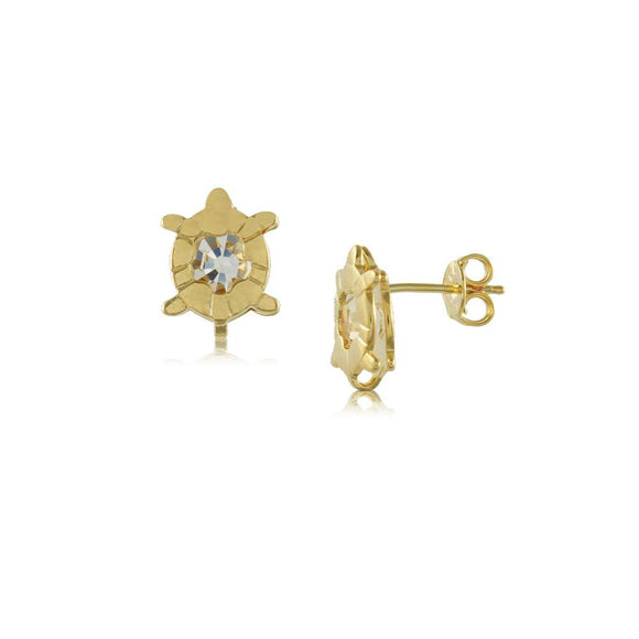37564 18K Gold Layered CZ Earring