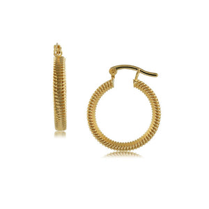 37605 18K Gold Layered Hoop Earring