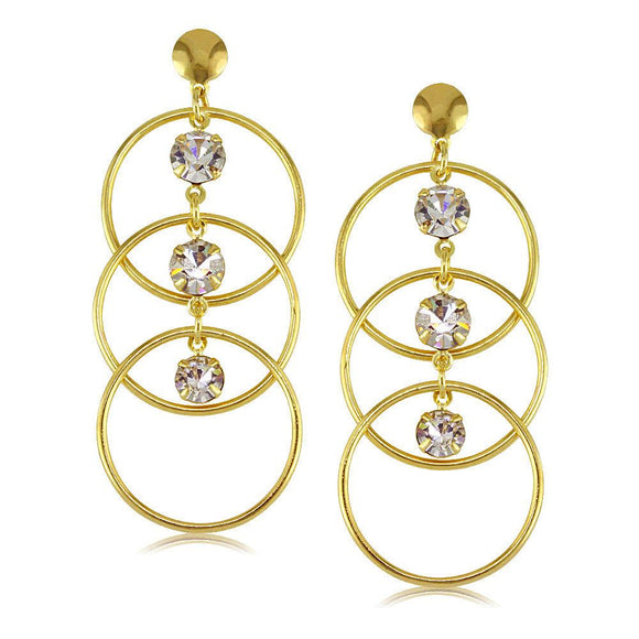 37808 18K Gold Layered CZ Earring