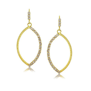 37867 18K Gold Layered CZ Earring