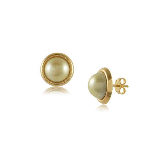 38028 18K Gold Layered Pearl Earring