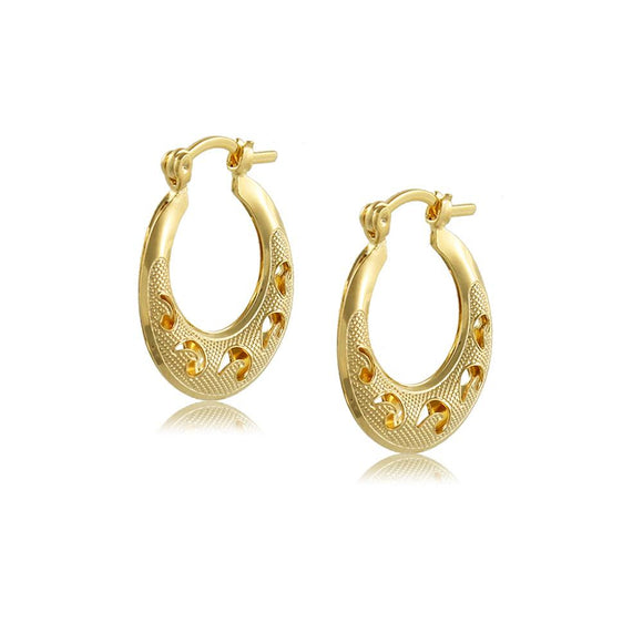 38202 18K Gold Layered -Hoop Earring