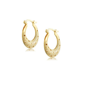 38219 18K Gold Layered -Hoop Earring