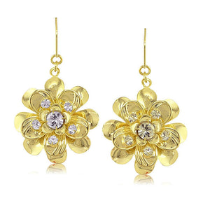 38460 18K Gold Layered -CZ Earring
