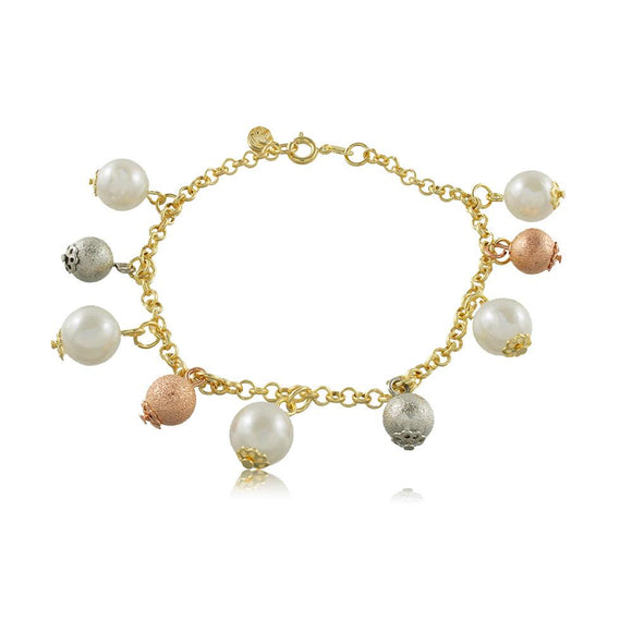40012R 18K Gold Layered Bracelet 20cm/8in