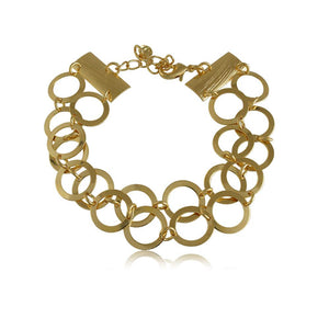 40067R 18K Gold Layered Bracelet 18cm/7in