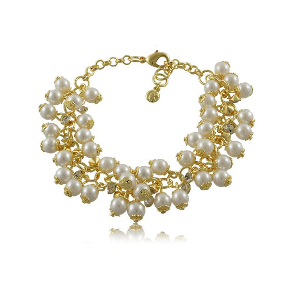 40068R 18K Gold Layered Bracelet 18cm/7in