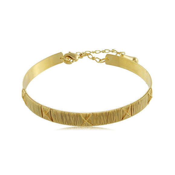 40071R 18K Gold Layered Bracelet Adjustable