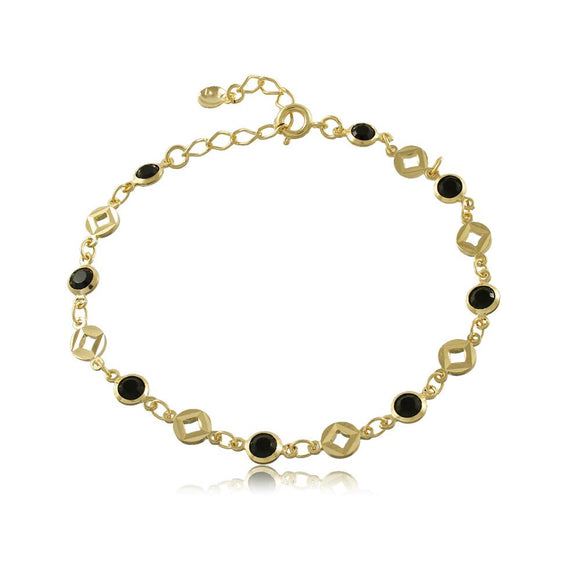 40109R 18K Gold Layered Bracelet 18cm/7in