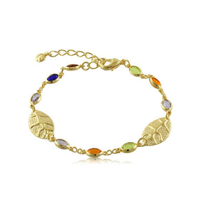 40113R 18K Gold Layered Bracelet 18cm/7in