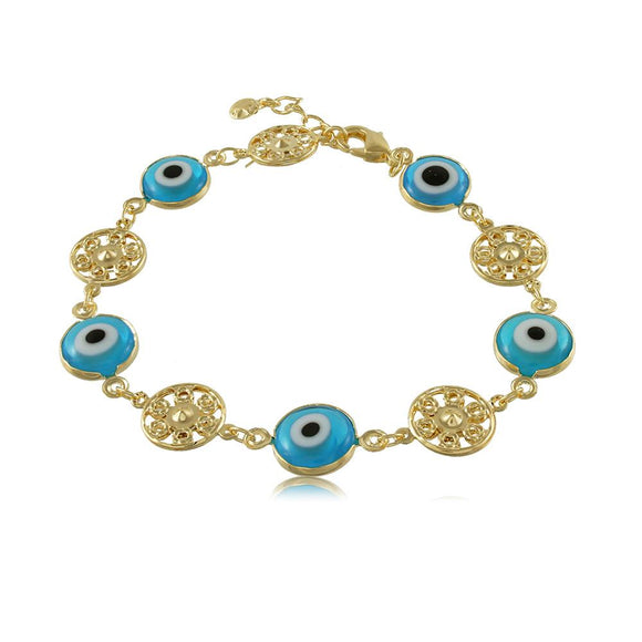 40115R 18K Gold Layered Bracelet 18cm/7in