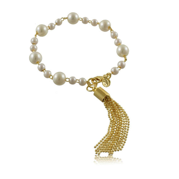 40123R 18K Gold Layered Bracelet 18cm/7in
