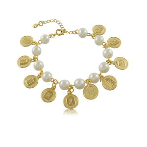 40253R 18K Gold Layered Bracelet 18cm/7in