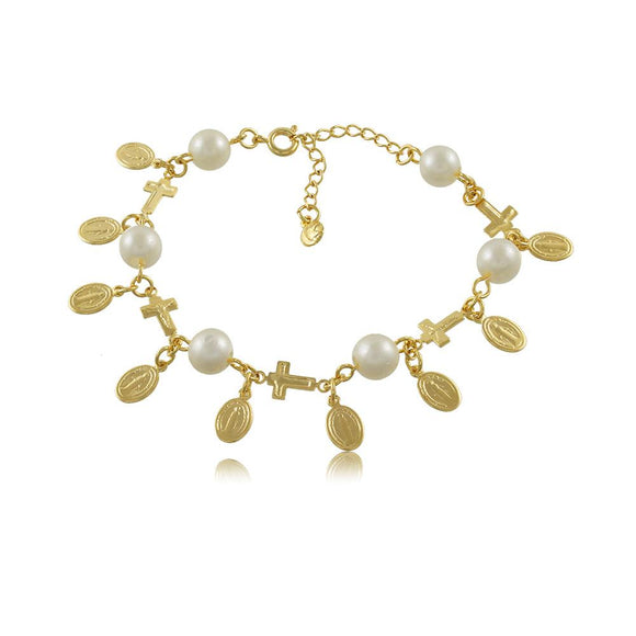 40254R 18K Gold Layered Bracelet 18cm/7in