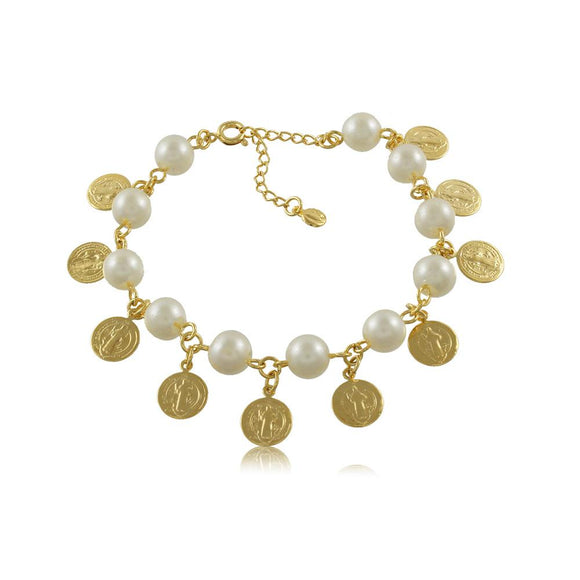40257R 18K Gold Layered Bracelet 18cm/7in