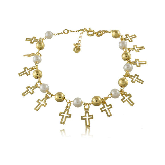 40259R 18K Gold Layered Bracelet 18cm/7in