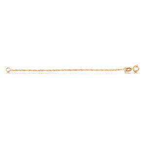 40726v 18K Gold Layered Chain Rose Gold 45cm/18in