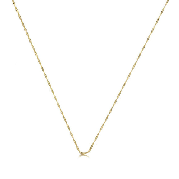 40726 18K Gold Layered -Chain 45cm/18in