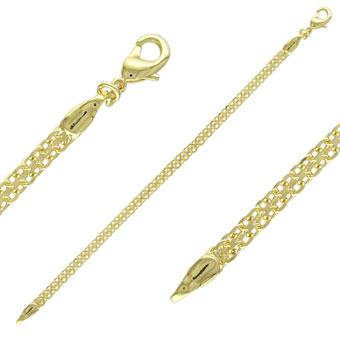 40886 18K Gold Layered -Chain 45cm/18in