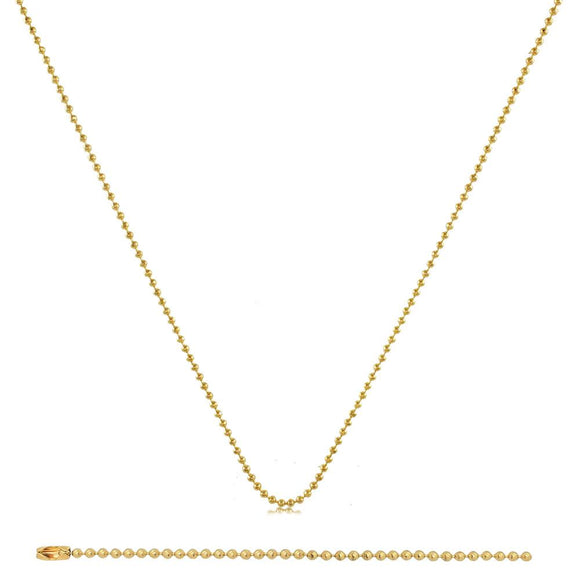 43002 18K Gold Layered Chain 60cm/24in