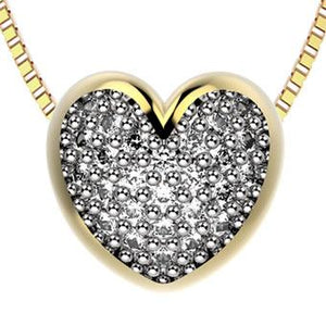 45014 18K Gold Layered Clear CZ Necklace