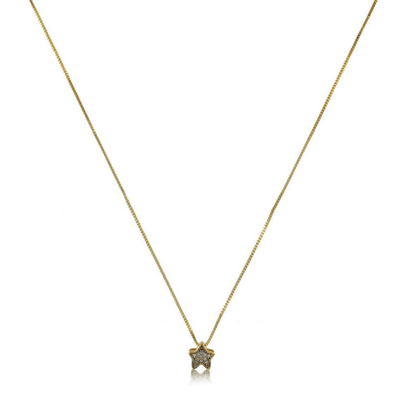 45017 18K Gold Layered CZ Necklace