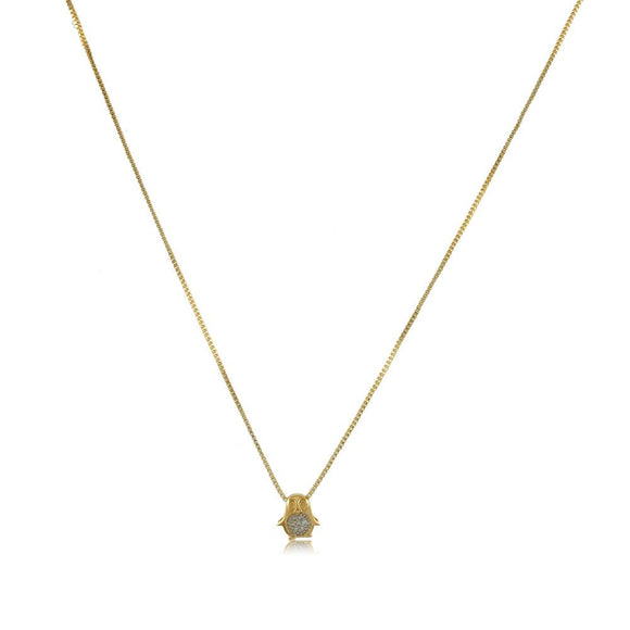 45022 18K Gold Layered -Necklace 45cm/18in