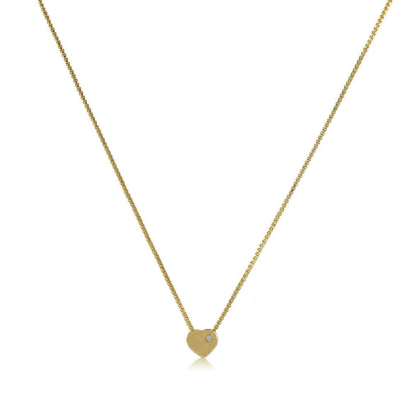 45061 18K Gold Layered CZ Necklace