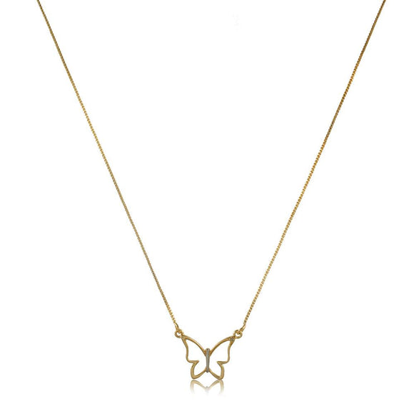 45118 18K Gold Layered -Necklace 45cm/18in