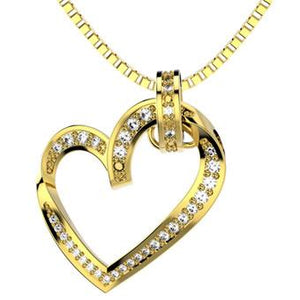 45247 18K Gold Layered Clear CZ Necklace