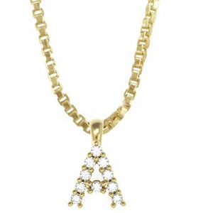 45261-A 18K Gold Layered Clear CZ Necklace
