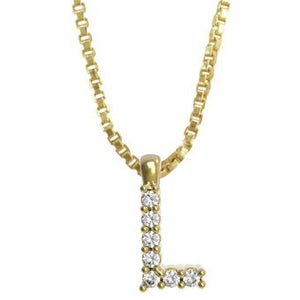 45261-L 18K Gold Layered Clear CZ Necklace