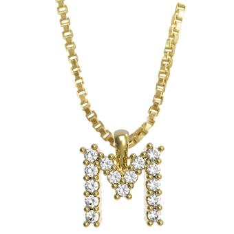 45261-M 18K Gold Layered Clear CZ Necklace