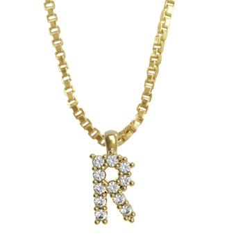 45261-R 18K Gold Layered Clear CZ Necklace