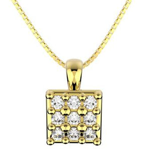 45278 18K Gold Layered CZ Necklace 18in/45cm