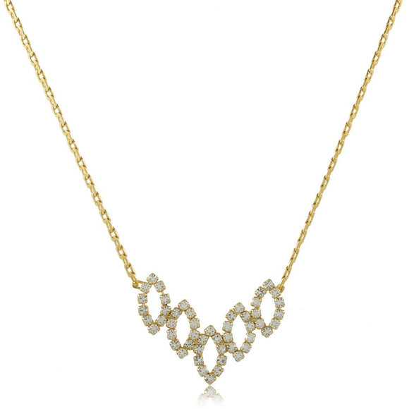 46001 18K Gold Layered Necklace 45cm/18in