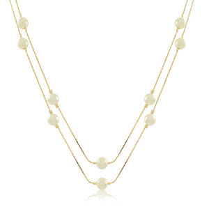 46006 18K Gold Layered Necklace 120cm/48in