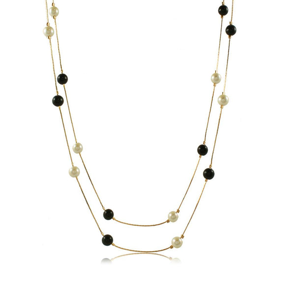 46007 18K Gold Layered Necklace 120cm/48in